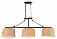 ELK 73046-3 Natural Rope 3 Lamp Aged Bronze Kitchen Island Light Fixture