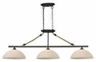 ELK 73045-3 Natural Rope 3 Lamp aged Bronze Dome Shade Island Lighting