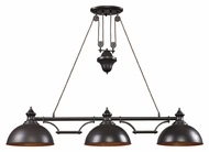 ELK 65151-3 Farmhouse Transitional Oiled Bronze 3 Lamp Island Lighting Fixture