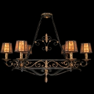 Fine Art 400740 Epicurean Charred Iron Finish 6 Lamp Traditional Island Lighting Fixture