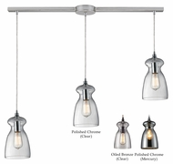 ELK Menlow Park Linear 3 Lamp 11 Inch Tall Multi Lighting Pendant With Finish Options