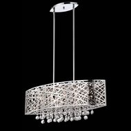 Lite Source EL-10103 Benedetta Contemporary 30 Inch Wide Chrome Island Lighting