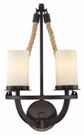 ELK 63040-2 Natural Rope 2 Lamp 19 Inch Tall Aged Bronze Sconce Lighting