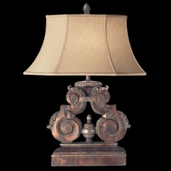 Fine Art 828510 Stile Bellagio Traditional Style 30 Inch Tall Table Light With Silk Shade