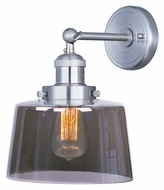 Maxim 25069MSK Mini Hi-Bay Mirror Smoke Glass 11 Inch Tall Wall Light Sconce With Finish Options