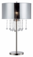 Lite Source LS-22285 Riviera Polished Steel & Chrome 30 Inch Tall Modern Table Light