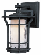 Maxim 30482WGBO Oakville Transitional Outdoor Black Oxie 9 Inch Tall Wall Light Sconce - Small