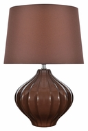 Lite Source LS-22314COFFEE Gordana 16 Inch Tall Transitional Ceramic Lamp - Coffee