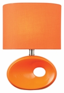 Lite Source LS-22315ORN Hennessy II Contemporary Orange 13 Inch Tall Ceramic Lamp