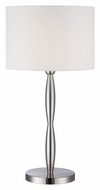 Lite Source LS-22336 Cira Polished Steel 27 Inch Tall Modern Bed Lamp
