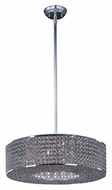Maxim 39895BCPS Glimmer Small 15 Inch Diameter Plated Silver Drum Pendant Lighting