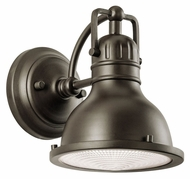 Kichler 49064OZ Hatteras Bay Small 8 Inch Tall Outdoor Retro Wall Lighting Sconce