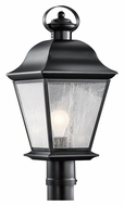 Kichler 9909BK Mount Vernon 20 Inch Tall Black Outdoor Lamp Post Lighting