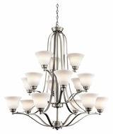Kichler 1789NI Langford Extra Large 15 Lamp Transitional Chandelier Lighting Fixture