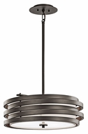 Kichler 43301OZ Roswell Olde Bronze 18 Inch Diameter Contemporary Drum Pendant Light