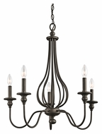 Kichler 43330OZ Kensington Small Transitional Style 25 Inch Diameter 5 Candle Chandelier