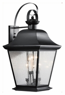 Kichler 9703BK Mount Vernon Large 6 Candle Black Traditional Outdoor Sconce