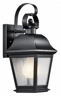Kichler 9707BK Mount Vernon Small 12 Inch Tall Black Traditional Outdoor Sconce