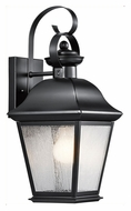 Kichler 9708BK Mount Vernon Medium Exterior Black Wall Light Sconce - 16 Inches Tall