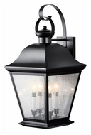 Kichler 9704BK Mount Vernon Small 4 Candle Outdoor Traditional Wall Lighting