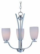 Maxim 20023SWPC Rocco Small Polished Chrome Transitional 3 Lamp Hanging Chandelier