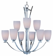 Maxim 20026SWPC Rocco Large 9 Lamp Transitional Polished Chrome Hanging Chandelier