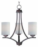 Maxim 20033SWOI Deven 3 Lamp Transitional 18 Inch Diameter Ceiling Chandelier - Oil Rubbed Bronze