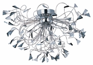 ET2 E23261-138PC Contemporary Polished Chrome 19  Tall Overhead Lighting Fixture