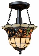 ELK 70021-1 Tiffany Buckingham Semi Flush Mount Tiffany Ceiling Light With LED Option