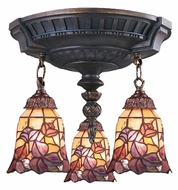ELK 997-AW-17 Mix-N-Match 3 Lamp Tiffany Art Glass Aged Walnut Overhead Lighting