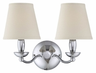Lite Source LS-13992C Althea Chrome 2 Lamp 17 Inch Wide Lighting Sconce
