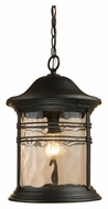 ELK 08160-MBG Madison 17 Inch Tall Outdoor Matte Black Pendant Hanging Lamp