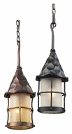 ELK 388 Rustica Transitional 7 Inch Diameter Outdoor Mini Pendant