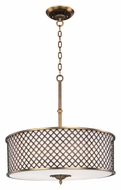 Maxim 22364OMNAB Manchester 27 Inch Diameter 6 Lamp Natural Aged Brass Drum Lighting Pendant