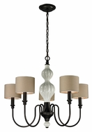 ELK 31374/5 Lilliana Transitional 26 Inch Diameter 5 Lamp Aged Bronze Chandelier