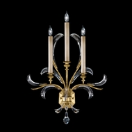Fine Art 769650 Beveled Arcs Gold 3 Candle Gold Leaf Lighting Sconce - 29 Inches Tall