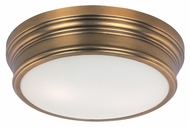 Maxim 22370SWNAB Fairmont Small 13 Inch Diameter Flush Mount Aged Brass Ceiling Light