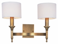 Maxim 22379OMNAB Fairmont 2 Lamp 18 Inch Wide Natural Aged Brass Sconce Lighting