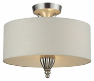 ELK 46031/3 Martique Silver Leaf Semi Flush Mount Lighting - 15 Inch Diameter
