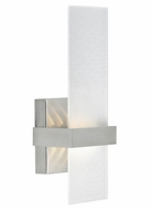 Tech 700WSMUR Mura Contemporary 13 Inch Tall LED Wall Sconce Light Fixture - Frost Glass
