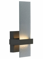 Tech 700WSMUR Mura 13 Inch Tall Smoke Glass Modern Wall Lighting Sconce