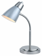 Lite Source Janli Silver & Polished Steel 15 Inch Tall Desk Lamp Lighting