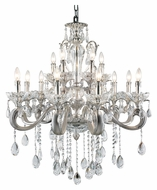 Trans Globe JB-12 SL 30 Inch Diameter Large 12 Candle Chandelier - Silver