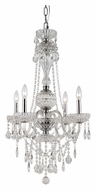 Trans Globe HL-4 PC Small Polished Chrome 21 Inch Diameter Candle Chandelier
