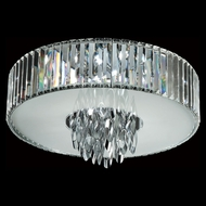 Trans Globe MDN-1140 Small 18 Inch Diameter Polished Chrome Crystal Ceiling Lighting