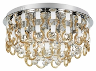 Trans Globe MDN-1171 CHMP Small Flush Mount 19 Inch Diameter Ceiling Lighting Fixture