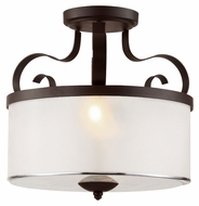 Trans Globe 70386 ROB Traditional Semi Flush Rubbed Oil Bronze Ceiling Lighting