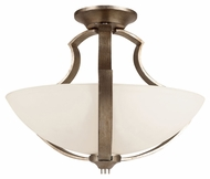 Trans Globe 70303 Antique Silver Semi Flush Mount Ceiling Lighting Fixture