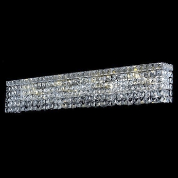 Elegant 2033W30C-RC Maxim Crystal Chrome Medium 7-light Vanity Bathroom Lighting Fixture