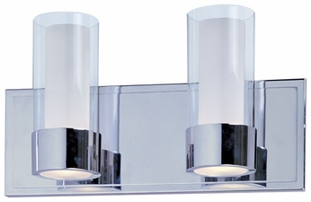 Maxim 23072CLFTPC Silo 2-light Chrome Contemporary Bathroom Lighting